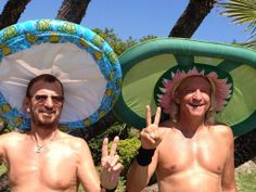 Ringo Starr and Joe Walsh Richard Starkey, Ringo Starr, Great Bands, Eagles, The Beatles, Peace And Love, Rock And Roll, Handsome, Statue