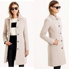 J.Crew Lady Day Coat, Brand NEW, 2P, Antique Linen J. Crew lady day coat, brand new with tags, size 2 petite- coat often featured on petite style blogs. Beautiful and sophisticated! Never worn- too small for me! Color: antique linen J. Crew Jackets & Coats Pea Coats