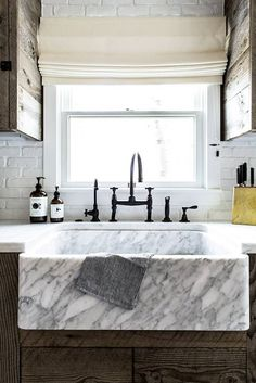 marble farmhouse sink.
