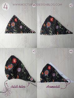Costura fácil: Bralette en tul bordado + molde gratis – Nocturno Design Blog Design Blog, Diy Clothing, Custom Clothes, Dress Patterns, Sewing Patterns, Diy Bralette, Fantasy Bra, Swimsuit Pattern, Sewing Lingerie