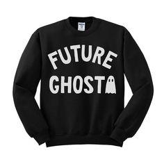 Future Ghost Sweatshirt Halloween Crew Neck Dead Inside