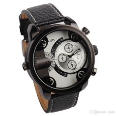 New Leather Geneva Watches For Men Geometric Fashion Personality Dual Time Zone Watches Sports And Leisure Fashion From Oyoo, $16.97 | Dhgate.Com