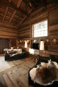 .:  Chalet Living Room Design  :.