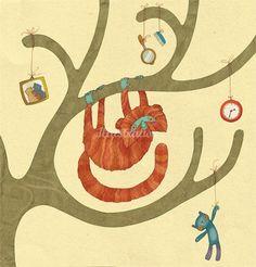 Alexandra Ball  home proud monkey illustration