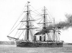 "HMS ""Sultan"" was a broadside ironclad of the Royal Navy of the Victorian era, who carried her main armament in a central box battery. Chatham Dockyard, Peter And The Starcatcher, Navy Ships, Model Ships, Royal Navy, Battleship, Victorian Era, Sailing Ships, French Empire"