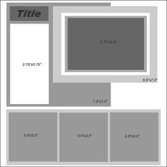 4 or 5 Photo Scrapbook Sketch Scrapbook Examples, Scrapbook Layout Sketches, 12x12 Scrapbook, Scrapbook Templates, Mini Scrapbook Albums, Disney Scrapbook, Scrapbook Paper Crafts, Scrapbooking Layouts, Keepsake Crafts