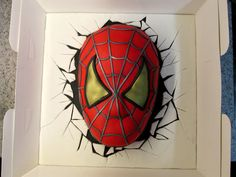 Spiderman Surprise - Spiderman surprise cake made for my neighbours grandson who. - Hulk,Iron Man,Thor u. Spiderman Birthday Cake, Spiderman Theme, Superhero Cake, Iron Man, Thor, Hulk, Rodjendanske Torte, Dad Cake, Cakepops
