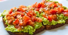 This avocado, tomato and basil toast is full of healthy fats and will be a great option for vegetarians and it's a perfect meal at any time of the day.