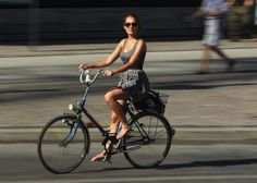 Here's a Genius Way to Bike in a Skirt Without Flashing the World