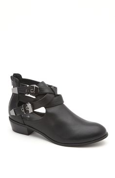 Black Poppy Cutout Buckle Boots from Pacsun. This trend is getting extremely popular!