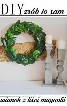 DIY - Jak zrobić wianek z liści magnolii?? farmhause, wianek z liści magnolii, DIY Fixer Upper Magnolia Wreath,