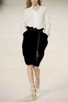 Velvet skirt by Chloé