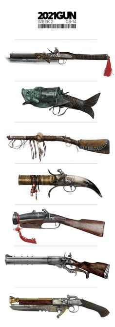 Steampunk Weapons, Sci Fi Weapons, Weapon Concept Art, Fantasy Weapons, Weapons Guns, Different Drawing Styles, Dnd Dragons, Gun Art, Dungeons And Dragons Homebrew