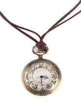 How delightfully #steampunk - Gold Pocket Watch Circle Hollow Necklace $11.61 #necklace #sheinside
