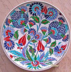 ceramic pomegranate plate