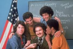 "Welcome Back Kotter  -  Gabe Kaplan (Gabe Kotter)...Marcia Strassman (Julie Kotter)...John Travolta (Vinnie Barbarino)...Robert Hegyes (Juan Epstein)...Ron Palillo (Arnold Horshak)...Lawrence Hilton-Jacobs (Freddy ""Boom Boom"" Washington)...  Debralee Scott (Rosalie ""Hotzie"" Totzie)...John Sylvester White (Michael Woodman)  -"