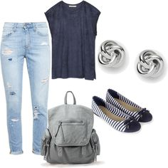 Sin título #2 by mmppggrr on Polyvore featuring polyvore, moda, style, Zara, Paige Denim, Accessorize and FOSSIL