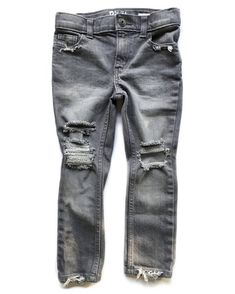 a2bbdc1da8 Basic Babe Skinnies- distressed denim- unisex jeans- baby jeans- toddler  jeans- gray