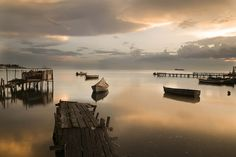 The beginning of 2015 summer gave us many rainy days the previous weeks. The set was almost ideal for photographers in town.This one was taken in Thessaloniki's Kalamaria area. Golden Lake, Thessaloniki, Ant, Rainy Days, Summer 2015, Celestial, Sunset, Outdoor, Outdoors