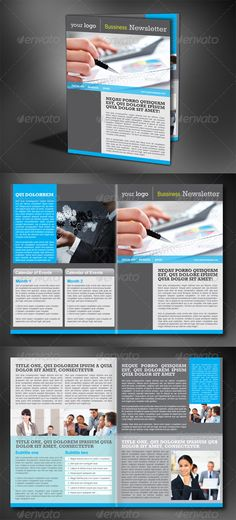 corporate newsletter 4 pages newsletter template indesign indd