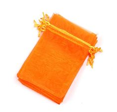EDENKISS Orange Color Drawstring Organza Jewelry Pouch Bags 2.8x3.6' 4x6' 5x7' 6x9' (4x6' 100Pcs) ** You can find out more details at the link of the image. (This is an affiliate link) #GiftBaskets