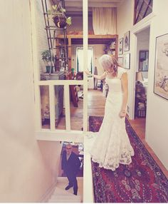 disregard the bride in the foreground and look how awesome that apartment is!!