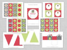 {HGTV} Gingerbread House Party   Free Printable Collection!