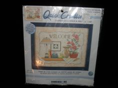 Dimensions Quick Creation Counted Cross Stitch Kit 72699 charming shelf Welcome #quickcreations