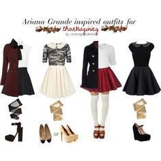 Ariana Grande Inspired Thanksgiving Outfits by arianagrandestyle (dresslikearianaa on polyvore)