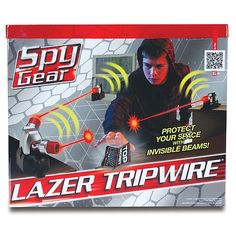 """Spy Gear – Lazer Tripwire – Planète Sauvage – Toys """"R"""" Us - toys Spy Gear For Kids, Spy Gadgets For Kids, Kids Toys For Boys, Cool Gadgets To Buy, Arma Nerf, Bow And Arrow Set, Spy Girl, Nerf Toys, New Technology Gadgets"""
