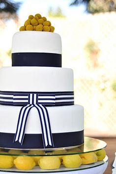 Yellow and Navy cake
