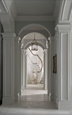 FOYER – great example of an impressive way to welcome guests. Hallway Interiors.