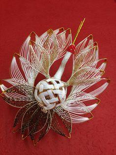 (有)ながさわ結納店  japan mizuhiki wedding yuino fukuoka hakata Ancient Japanese Art, Japanese Artists, Japanese Party, Japanese Wrapping, Weaving Designs, Arts And Crafts, Paper Crafts, Weaving Art, Japan Art