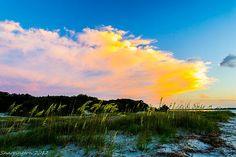 Sunset over Fernandina Beach, Fl