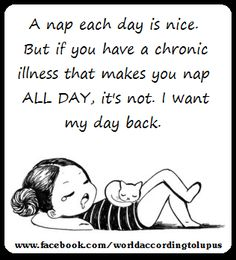 Chronic Illness, I would love to have my life back!