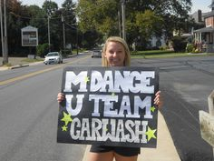 Morgan at our fundraiser car wash!