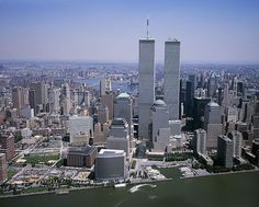 World Trade Centre, NYC.  Before the attack on  September 11, 2001