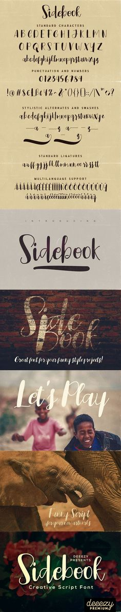 Sidebook Script Font Script Fonts, Punctuation, Cool Fonts, Language, Funny, Projects, Movie Posters, Ideas, Log Projects