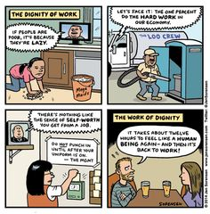 Cartoon: The dignity of work