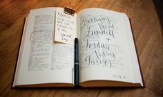 Dictionary guestbook--cute idea!  would need to find one with space in the margins to sign also