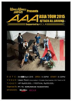 AAA (Attack All Around) Live in Concert Asia Tour, 8 April 2015