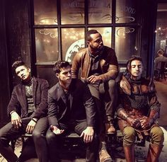 Shadowhunters| The Downworlders: Magnus Bane played by Harry Shum Jr., Raphael Santoago played David Castro, Luke Garroway played by Isaiah Mustafa, and Meliorn played by Jade Hassoune