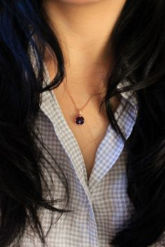 Excited to share the latest addition to my #etsy shop: Amethyst Gemstone Necklace Holiday Gift/Rose Gold/Gift for her/Amethyst Necklace/Rose Gold Necklace/Gemstone Necklace/Purple stone Necklace #jewelry #christmas #necklace #amethyst #women #silver #gemstonenecklace #gemstonejewelry #colorful