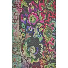 Lend a touch of organic flair to your patio or master suite with this lovely woven rug, showcasing an abstract floral motif.  Produc...