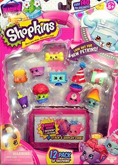 Official Shopkins Season 4 (12pcs Each Pack) (Styles Will Vary) (One Free Good Luck Fortune Bracelet)