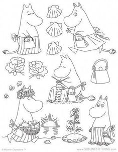 Awesome Most Popular Embroidery Patterns Ideas. Most Popular Embroidery Patterns Ideas. Embroidery Transfers, Hand Embroidery Patterns, Vintage Embroidery, Cross Stitch Embroidery, Machine Embroidery Designs, Felt Embroidery, Simple Embroidery, Tove Jansson, Colouring Pages