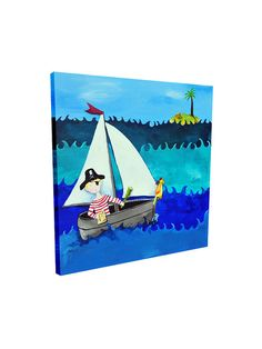 Perfect for kids' bedroom walls! Cici Art Factory Pirate Giclee Canvas Print