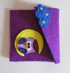 Felt purse with owl and starry cloud, Purple Felt purse Purse coin Felt Pochette Purple purse Accessories for girl Birthday gift Owl purse di TinyFeltHeart su Etsy