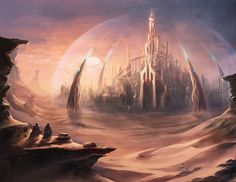 Desert City by mrainbowwj  **this reminds me of the Royal Red City on Lucino's home world**