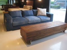 Denim Sofa Cover! I Want This For My Sofa!!! Hope I Can